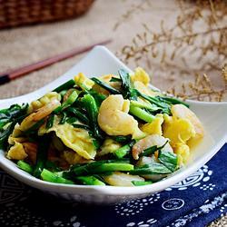 韭菜虾仁炒蛋