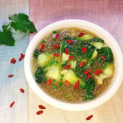 青菜枸杞粉丝汤