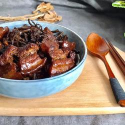 茶树菇红烧肉