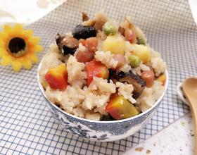 香菇土豆焖饭(砂锅版