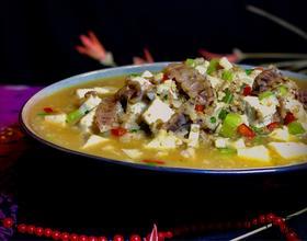 虾菇干烩豆腐[图]