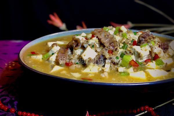 虾菇干烩豆腐