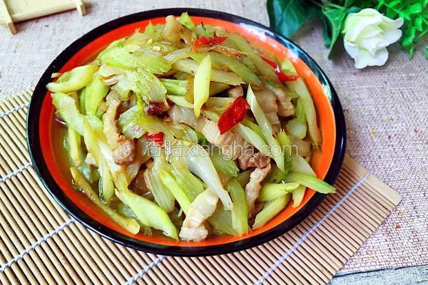 西芹炒肉/芹菜炒肉