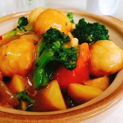 咖喱蔬菜鱼丸煲