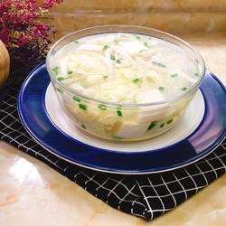 白玉菇鸡蛋豆腐汤