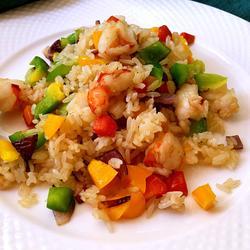 虾仁蔬菜炒饭