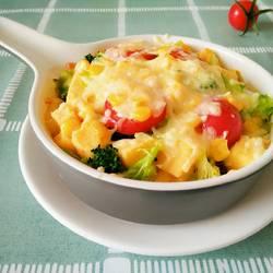 香烤馒头蔬菜布丁