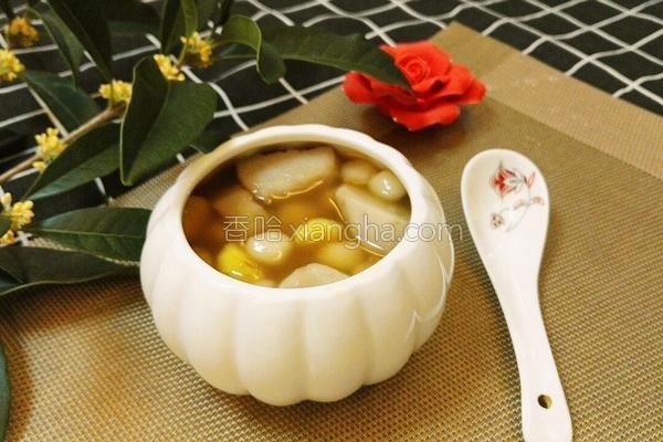 糖芋圆子栗羹汤的做法