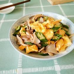 秋葵鲜菇炒蛋