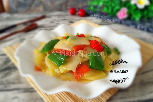 辣椒炒土豆片