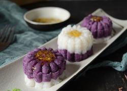 桂花山药紫薯糕