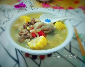 香菇玉米鸡肉汤