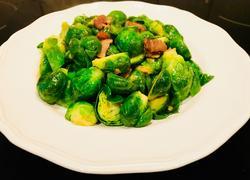 蒜蓉腊肉香炒抱子甘蓝(Brussels Sprouts)