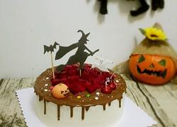 万圣节巧克力淋面蛋糕