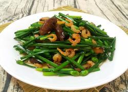 香菇虾米炒韭菜花