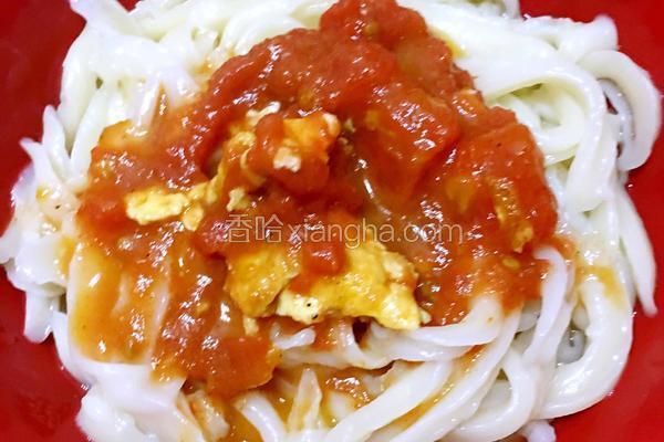 西红柿炒鸡蛋~刀削面