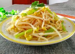 黄豆芽拌芹菜