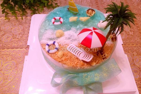 椰风海洋慕斯蛋糕(6寸)