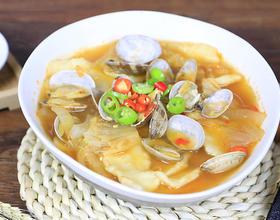 辣白菜面片汤