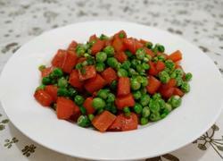 豌豆炒胡萝卜
