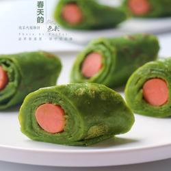 菠菜火腿肠卷饼