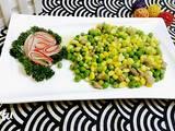 玉米豌豆炒肉的做法[图]