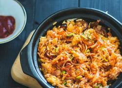 炒鸡简单的韩式拌饭 好看又好吃 米饭党最爱