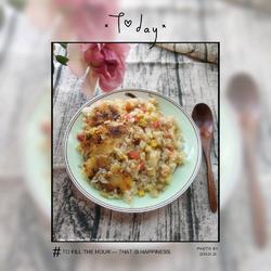 虾仁什锦锅巴饭