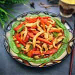 彩豆菜椒鸡肉丝的做法[图]