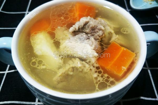 胡萝卜山药排骨汤(12个月宝宝辅食)