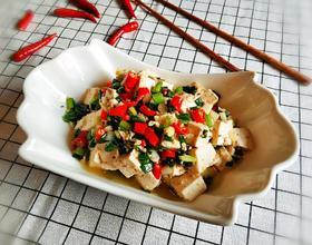 小葱拌豆腐[图]