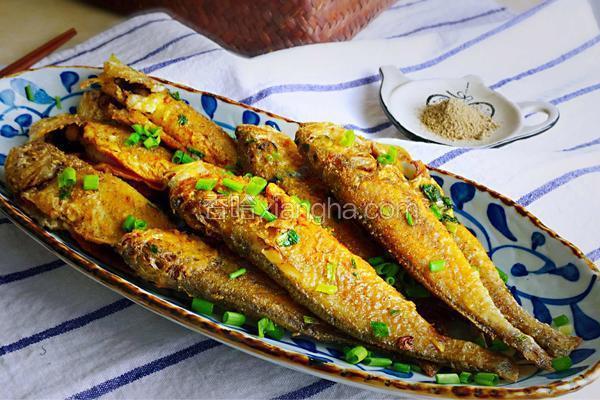 椒盐香葱黄花鱼