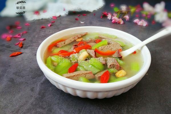减肥瘦身汤之丝瓜猪肝汤