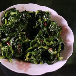 辣炒茼蒿菜的做法[图]