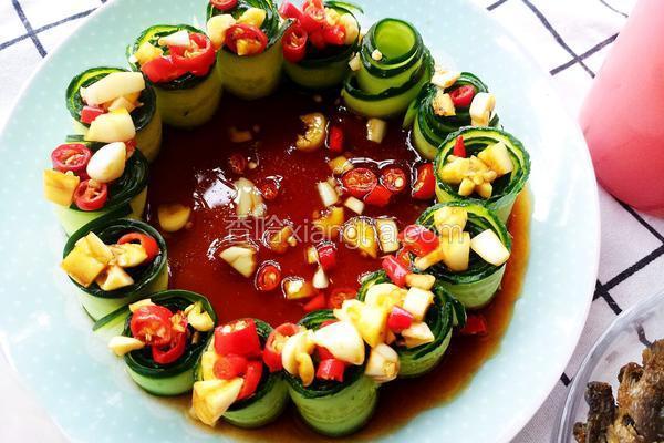 凉拌黄瓜卷