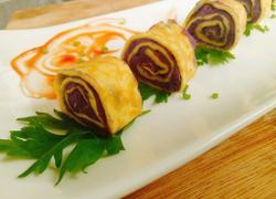 用奶香紫薯鸡蛋饼来迎接立秋吧