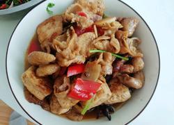豆腐烧肥肠