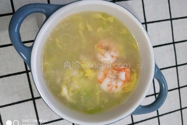 鲜虾疙瘩汤