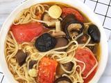 黑蒜香菇番茄面的做法[图]