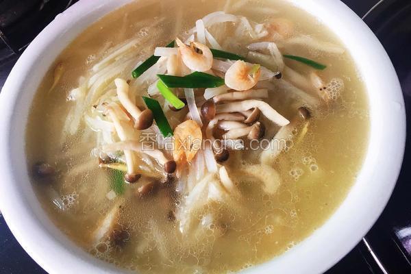 虾干萝卜汤