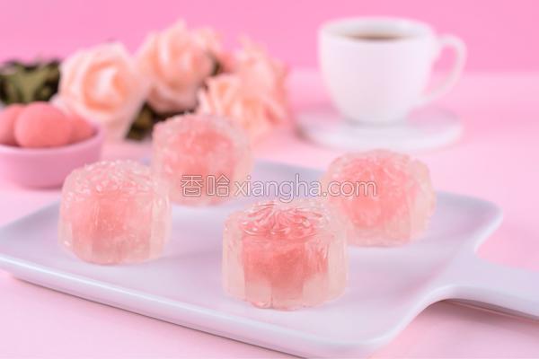 水晶玫瑰月饼