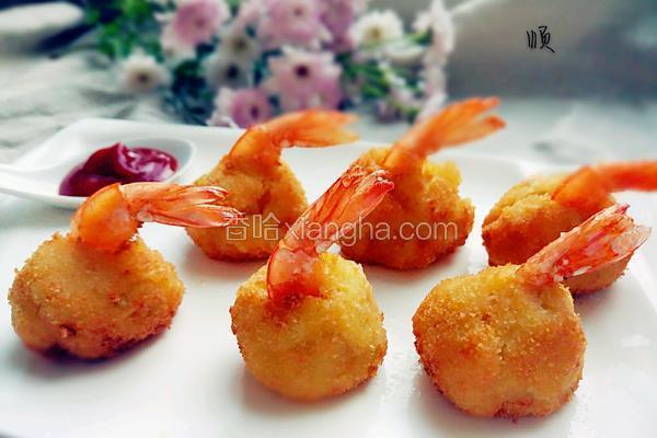 鲜虾土豆球