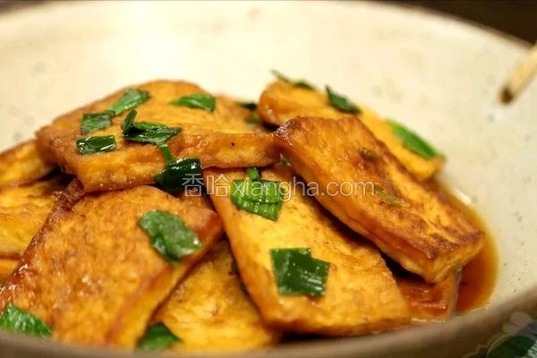 蒜苗煎豆腐