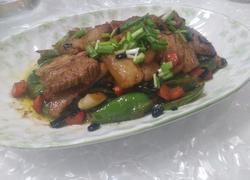 豆豉青椒炒五花肉