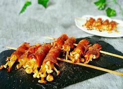 培根金针菇卷