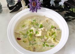 手掰豆腐白菜汤