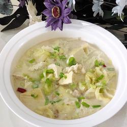 手掰豆腐白菜汤的做法[图]