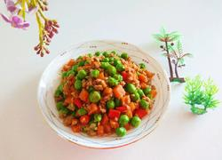 新文美食 肉末炒碗豆