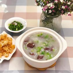 粤式-猪红生菜粥