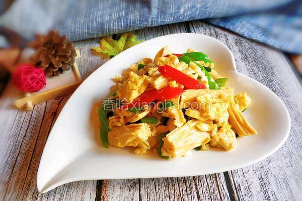鸡蛋炒腐竹